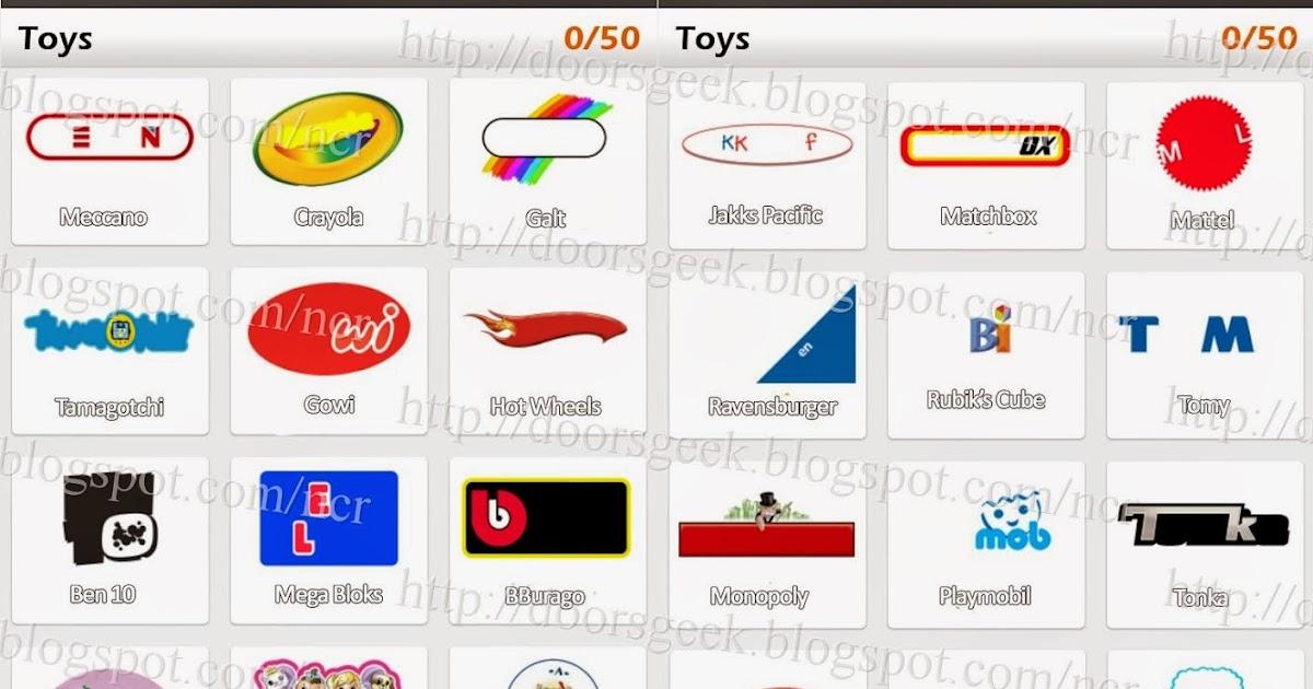 Logo Game Guess The Brand Bonus Toys Doors Geek